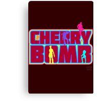 Cherry Bomb (Text) Canvas Print