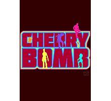 Cherry Bomb (Text) Photographic Print
