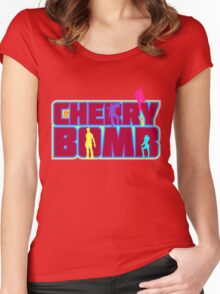Cherry Bomb (Text) Women's Fitted Scoop T-Shirt