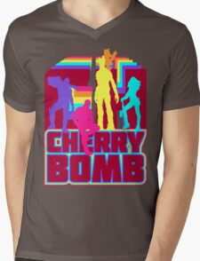 Cherry Bomb (Full) Mens V-Neck T-Shirt