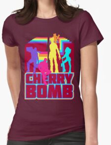 Cherry Bomb (Full) Womens Fitted T-Shirt