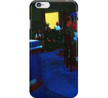 Blue Bar on a Monday iPhone Case/Skin