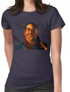 Negan Fanart- Orange Ver. Womens Fitted T-Shirt