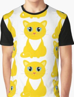Only One Yellow Kitty Graphic T-Shirt