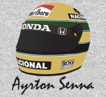 Ayrton Senna Helmet Design by dayav07