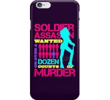 Soldier, Assassin, Wanted For Murder iPhone Case/Skin