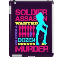 Soldier, Assassin, Wanted For Murder iPad Case/Skin