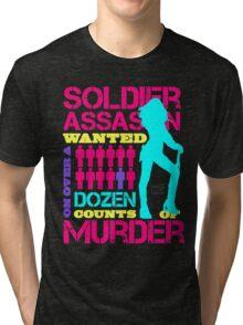 Soldier, Assassin, Wanted For Murder Tri-blend T-Shirt