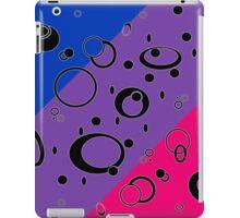 Retro Futuristic Loops, Bisexual Pride Flag, Black Loops iPad Case/Skin