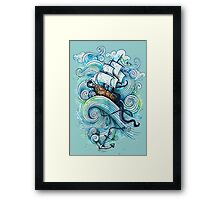 Wow It's a ship Tshirt Framed Print