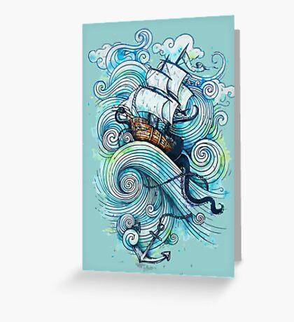 Wow It's a ship Tshirt Greeting Card