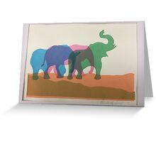 Elephants. Greeting Card