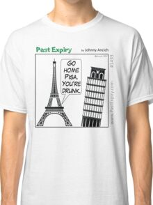 Cartoon : Leaning Tower of Pisa Italy Classic T-Shirt