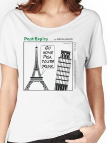 Cartoon : Leaning Tower of Pisa Italy Women's Relaxed Fit T-Shirt