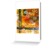 Hot and Spicy Original Abstract Greeting Card