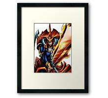 flame swordsman yugioh Framed Print