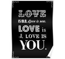 Love is - Beatles Lyrics Poster