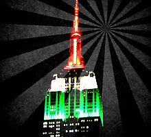 The Empire State Building on a warm summer night by Jamie Greene
