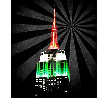 The Empire State Building on a warm summer night Photographic Print