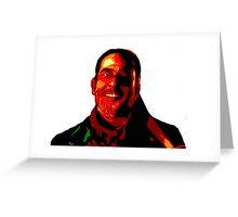Negan Fanart- Posterized Copper Ver. Greeting Card