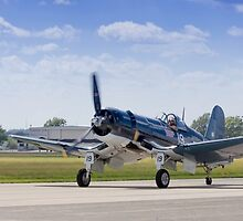 F4U Corsair Taxi Back - CAF Heart of America Wing 2015 Airshow by Paul Danger Kile