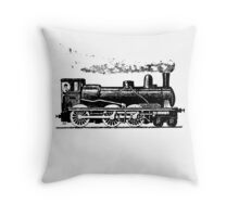 Vintage European Train  Throw Pillow
