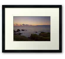 Sunset on Cruden Bay, Slains Castle - North East coast of Aberdeenshire, Scotland Framed Print