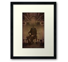 Follow him...he will lead you Framed Print
