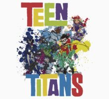 Teen Titans Splatter . Kids Clothes
