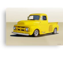 1952 Ford F100 Custom Pickup Metal Print