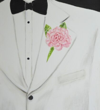 A White Sport Coat and a Pink Carnation Sticker