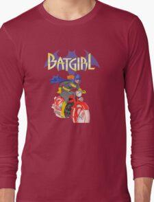Batgirl on Batbike Long Sleeve T-Shirt