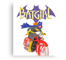Batgirl on Batbike Canvas Print