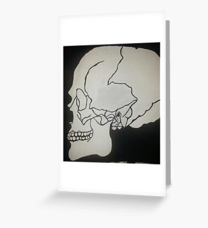 Black and White Skull Greeting Card