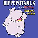 This Hippo eats Cake by blueparrot