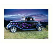 1934 Ford Coupe 'Morning After' Art Print