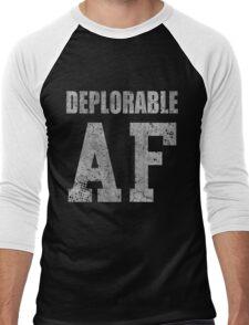 Deplorable AF Funny Shirt Men's Baseball ¾ T-Shirt