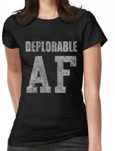 Deplorable AF Funny Shirt Womens Fitted T-Shirt