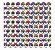 Perfect Pokeball Pattern Kids Tee