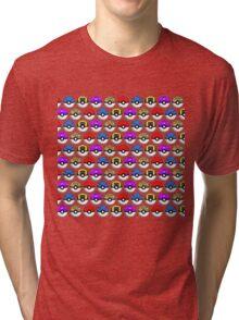 Perfect Pokeball Pattern Tri-blend T-Shirt