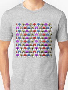 Perfect Pokeball Pattern Unisex T-Shirt