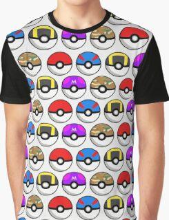Perfect Pokeball Pattern Graphic T-Shirt