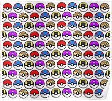 Perfect Pokeball Pattern Poster