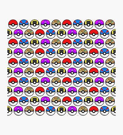 Perfect Pokeball Pattern Photographic Print