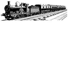 Vintage European Train A9 by cartoon