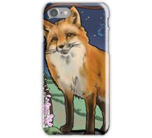 Fox and Foxgloves Constellation Vulpecula Art Nouveau Style iPhone Case/Skin