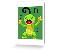 Pokemon Gold Silver Crystal Politoed Greeting Card