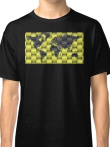 3d World map composition Classic T-Shirt