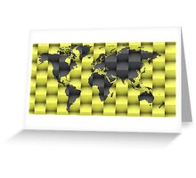 3d World map composition Greeting Card