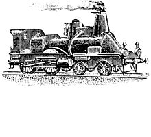 Vintage European Train A10 by cartoon